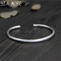 Fyla Mode Fine 999 Silver Bangle Bracelet Female Opening Cuff Bangle 100 Real Silver Jewelry Size