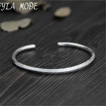 Fyla Mode Fine 999 Silver Bangle Bracelet Female Opening Cuff Bangle 100% Real Silver Jewelry Size Adjustble WT024