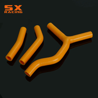 Motorcycle Orange Water Pipe Silicone Radiator Coolant Hose For KTM SX125 SX200 SX 125 200 2003 2004 2005 2006 Dirt Bike