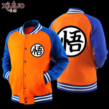 Men's Coat Dragon Ball Wukong Sweater Anime Hoodie Outerwear Jackets Xmas Costume