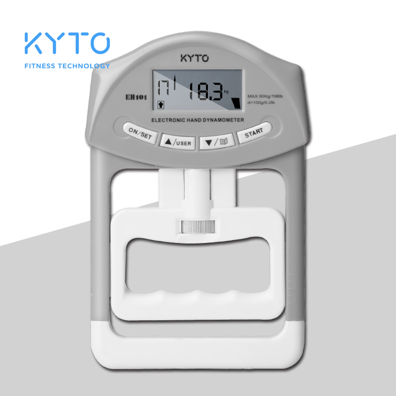 KYTO Digital Hand Dynamometer Grip Strength Measurement Meter Auto Capturing Hand Grip Power 200 Lbs / 90 Kgs