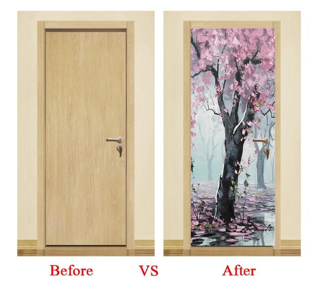 3d настенная наклейка на дверь декорации снаружи окна обои для