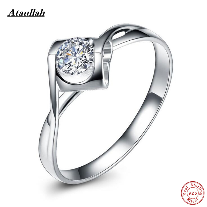 Ataullah SONA NSCD Lab Diamond Women Wedding Ring Set Band Silver 925 Lady Engagement Square Fashion Rings Fine Jewelry RWD890