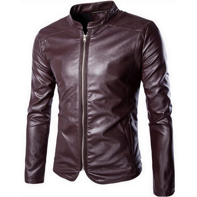 2016 New Arrivals Winter Autumn Brand Leather Jacket Men Motorcycle Leather Jackets Overcoat Jaqueta High Quality