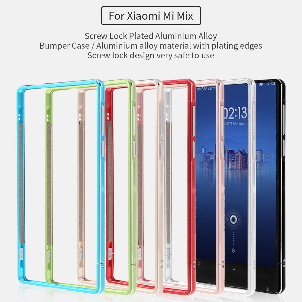 imágenes para Para Xiomi Mi cubierta Del Teléfono Mix Screw Lock Plateó la Aleación de Aluminio Caso de Parachoques para Xiaomi mi Mix-Negro