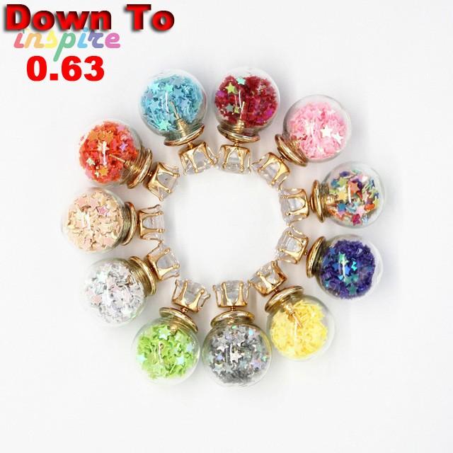 Clearance-11-Colors-New-Stud-Earrings-Transparent-glass-Korea-earrings-color-earrings-Wholesale-Promotion-Bulk-Extra
