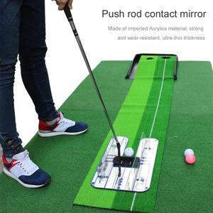 Image 2 - חדש גולף לשים בפועל מאמן להתבטל מראה בפועל אימון גולף סיוע חזק וללבוש עמיד לדחוף מוט קשר מראה