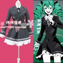 Nuevo Japonés Anime VOCALOID Hatsune Miku Cosplay Traje de Policía Secreta Cosplay Traje coat + shirt + skirt + tie