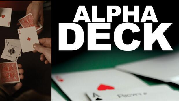 Alpha Deck (Cards and Online Instructions) by Richard Sander,Card Magic Trick,Illusion,Close up,mentalism