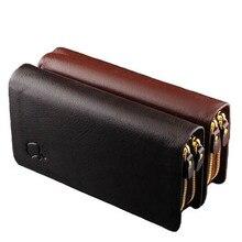 Heißer 2016 Männer Brieftaschen Split Leder Geldbörsen Berühmte Marken Qualität Clutches Vertraglich Geschäfts Geldbörse Herren Geldscheinklammer R0009