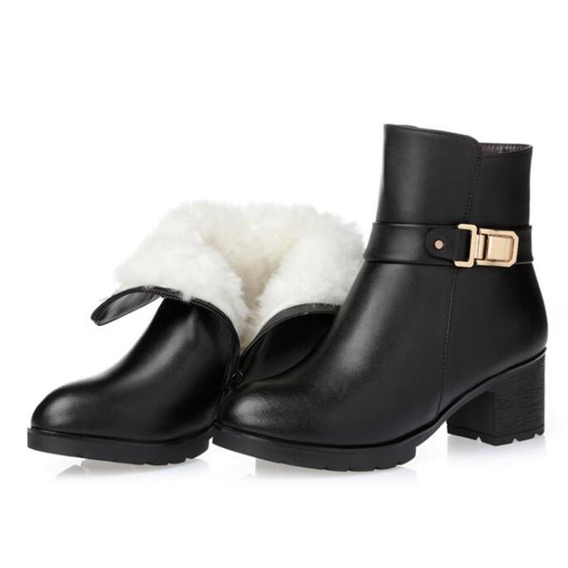 Wool 01 Genuino 02 Mujeres Zapatos 02 Las inside inside Black De Marca Velvet 2018 Cuero Invierno Lana Botas 01 Cómodo El brown Zxryxgs Inside Más Nieve Mujer Tamaño f0nRWqHx