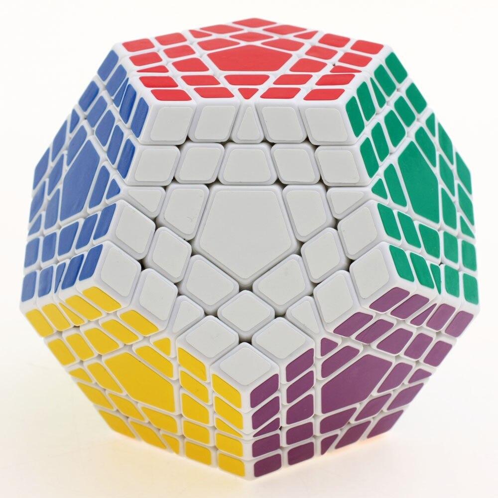2017 nouveau Shengshou SHS Gigaminx Puzzle Cube professionnel 5x5x5 PVC & mat autocollants Cubo Puzzle vitesse classique jouets livraison gratuite