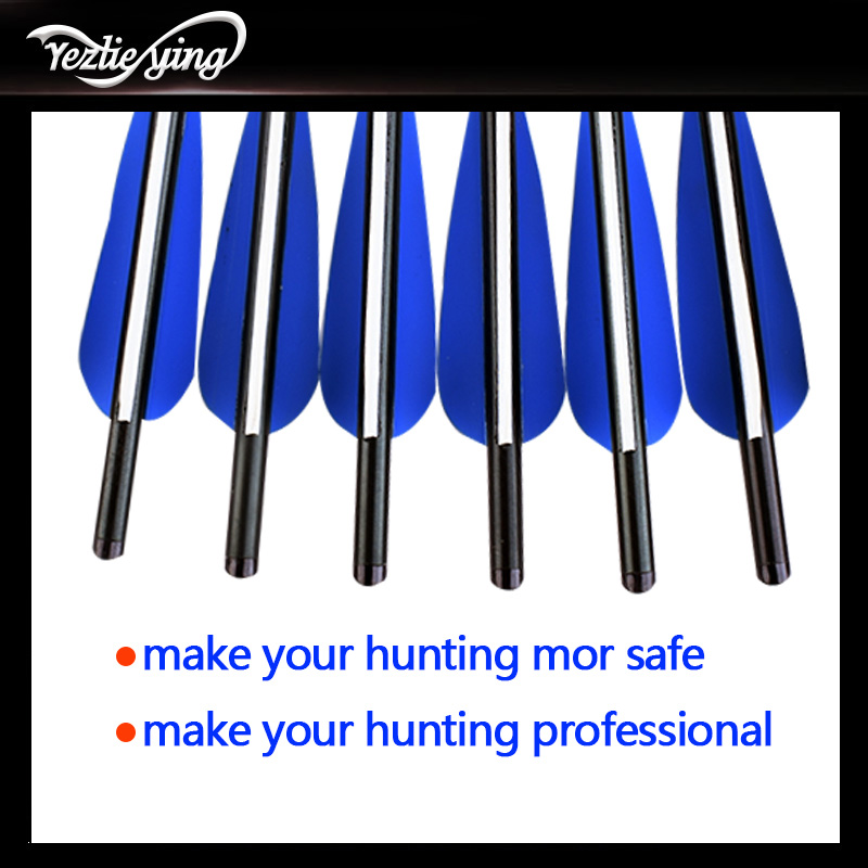 Image 5 - Crossbow Hunting 22Inch Crossbow Bolt Aluminum Arrow for Crossbow, Blue and White Feathers, Replaceable Arrows Bow For Shooting-in Bow & Arrow from Sports & Entertainment