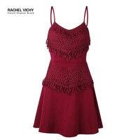 Sexy A line party vintage summer new women starp ukraine robe lace dresses irregular sundress Hot boho UK 2128 dress RV0066