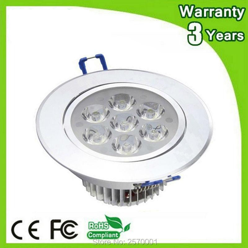 Thick Housing Epistar Chip CE RoHS LED Ceiling Light 7W LED Downlight Down Lights COB Spotlight Bulb