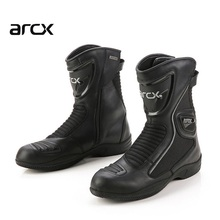 Free transport 1pair Motorcycle Boots Cowhide Leather Waterproof Touring Biker Motorbike Riding Boots
