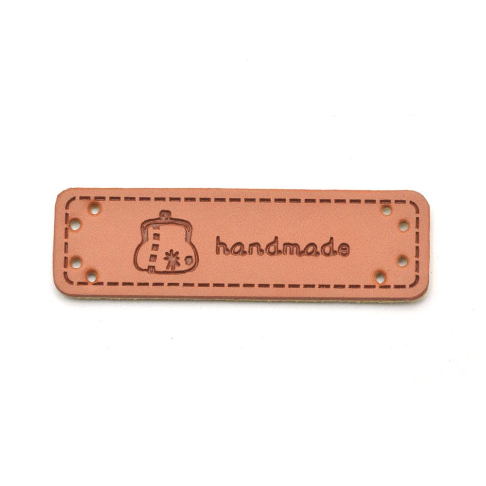 KALASO Wholesale 30pcs Bag Handmade Labels Clothes Garment PU Leather Labels Hand Made Tags Jeans Bags Shoes Sewing Supplies in Garment Labels from Home Garden