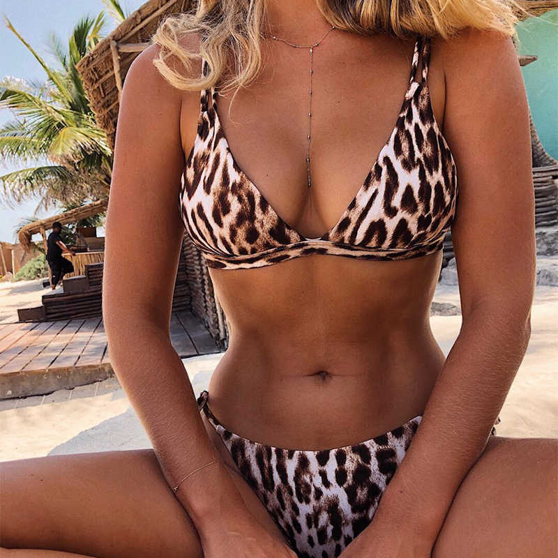 7beee9207e ... Brazilian bikinis 2019 mujer bathing suit Leopard one piece swimsuit  female Push up swimwear Sexy bodysuit ...