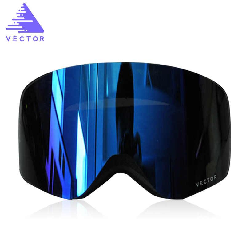 5ef71f510f13 Подробнее Обратная связь Вопросы о Вектор бренд профессиональные лыжные  очки Для мужчин Для женщин Анти туман 2 объектива UV400 взрослых зима  Лыжный Спорт ...