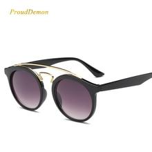Prouddemon Fashion Round Sunglasses Women Vintage Classic Retro Coating Plastic Sun Glasses Female Male