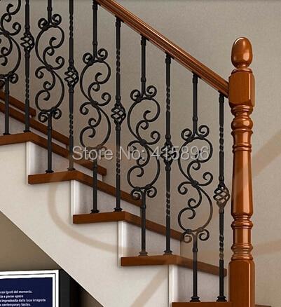 Caliente venta de hierro forjado barandillas para escaleras de