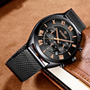 WISHDOIT Mens Watches Top Brand Luxury Casual Fashion Business Sport Men Quartz Watch Military Male Clock