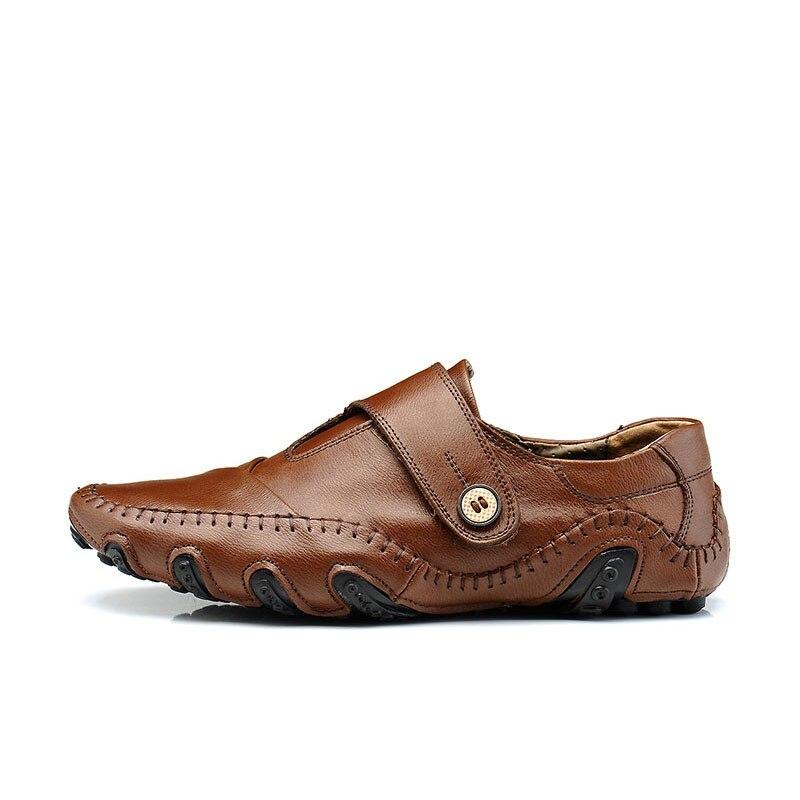 Hommes Mode Chaussures Appartements Para Véritable Conduite Casual Dentelle Up Cuir Pisos Oxford En Classique brown Mâle Nouveau Hombres Plat Black d5wSEqw