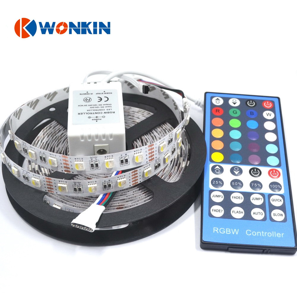 rgbw led tape RGBW LED strip Waterproof 5050 DC24V smd 60LED/m 5m/Roll flexible 4 colors in 1 led tape light