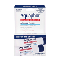 Aquaphor Advanced Therapy Healing Ointment Skin Protectant To Go Pack 2 0.35 Ounce/10g Tubes