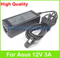 12V 3A 36W  laptop AC power adapter charger for Asus Eee PC 904 904HA 1000H 1000HD 1000E R2 R2E R2H T91 S101 S121 Tablet