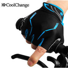 Coolchange guantes ciclismo mountain half finger nylon breathable bicycle bike cycling