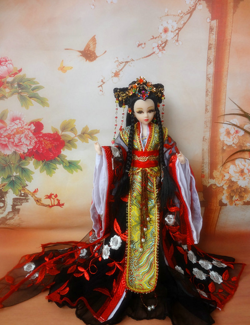 Tang Dynasty Shangguan Wan'er 12Jointed Doll 31cm High-end Handmade Chinese Costume Dolls Limited Collection BJD 1/6 Moveable tang dynasty shangguan wan er 12jointed doll 31cm high end handmade chinese costume dolls limited collection bjd 1 6 moveable