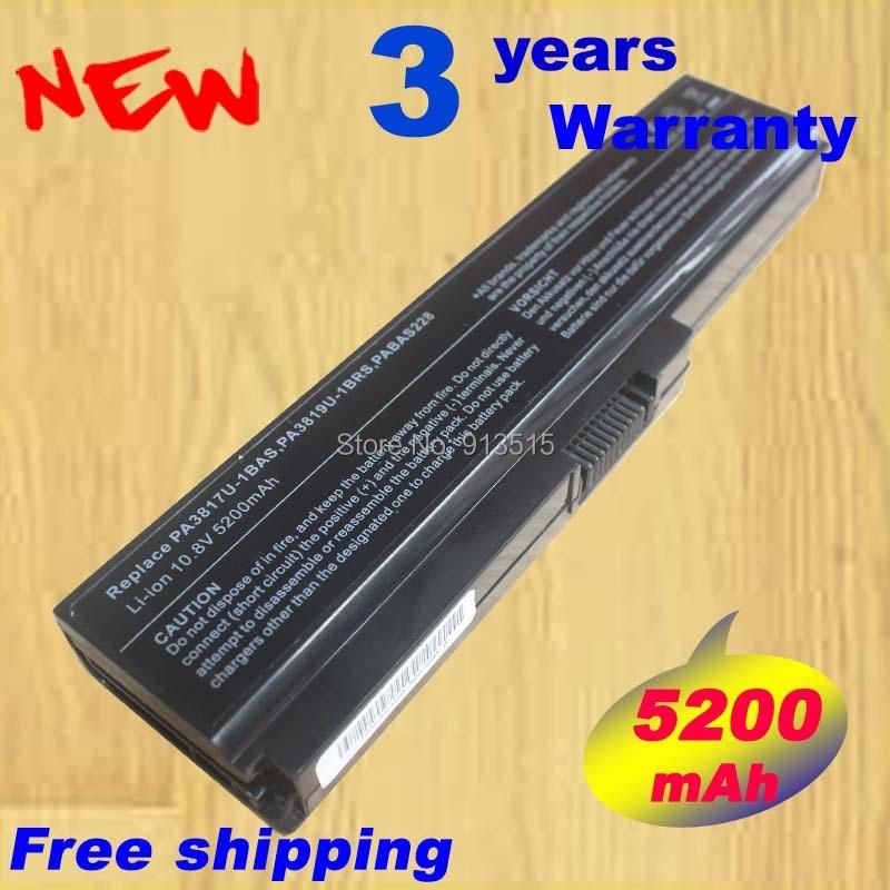 5200mah PA3817U-1BRS Battery Pack For Toshiba M645 C640 C650D L745 L750 L675D