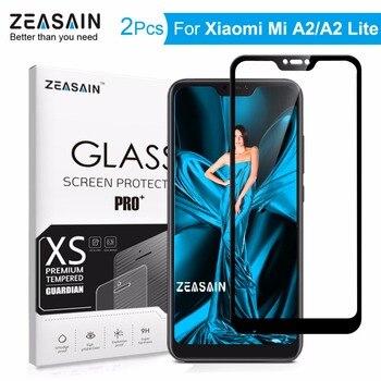 2 Pack Original ZEASAIN Screen Protector For Xiaomi Mi A2 Lite Xiomi MiA2 Lite Tempered Glass 9H 0.3mm Anti-Scratch Glass Film