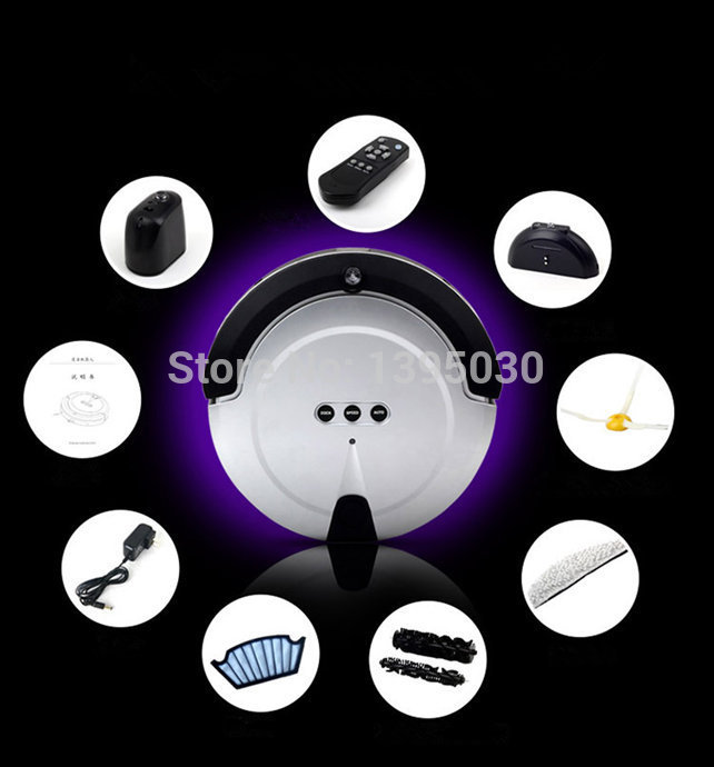 1PC KRV208 New Intelligent Household Ultra Thin Robot Smart Efficient Automatic Vacuum Cleaner|automatic vacuum cleaner|vacuum cleanerautomatic cleaner - title=