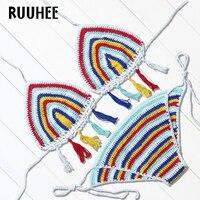 RUUHEE Brand 2017 Hot Sexy Women Swimsuit Sexy Bikini Set Low Waist Brazilian Bikini Halter Swimwear