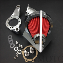 motorcycle parts Cone Spike Air Cleaner intake for  Harley Davidson CV Carburetor Delphi V-Twin CHROME