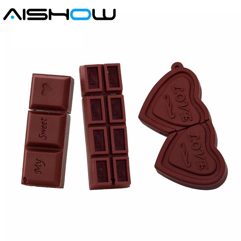 Chocolate model USB flash drive 8GB/4GB/32GB USB2.0 pendrive 4GB 8GB 16GB 32GB 64GB memory stick for tablet PC free ship