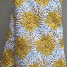 Новая французская молочная шелковая чистая кружевная ткань Высококачественная африканская Тюлевая кружевная ткань со стразами для нигерийской свадьбы ELL3822