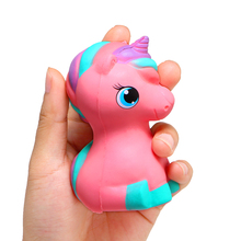 Cartoon Pink Unicorn Squishy Toy