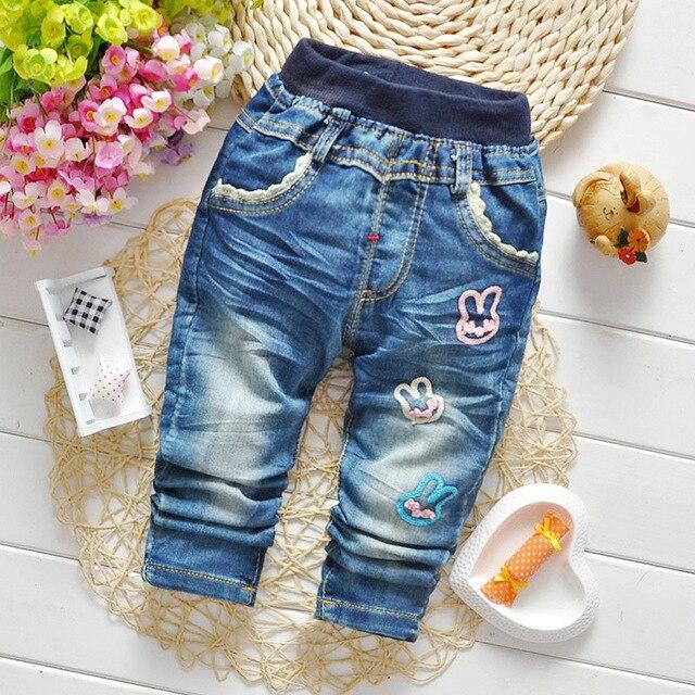 Весна мягкие джинсовые брюки свободного покроя брюки ребенка джинсы девочки джинсы дети Trsouers детская одежда синий новинка подгузники