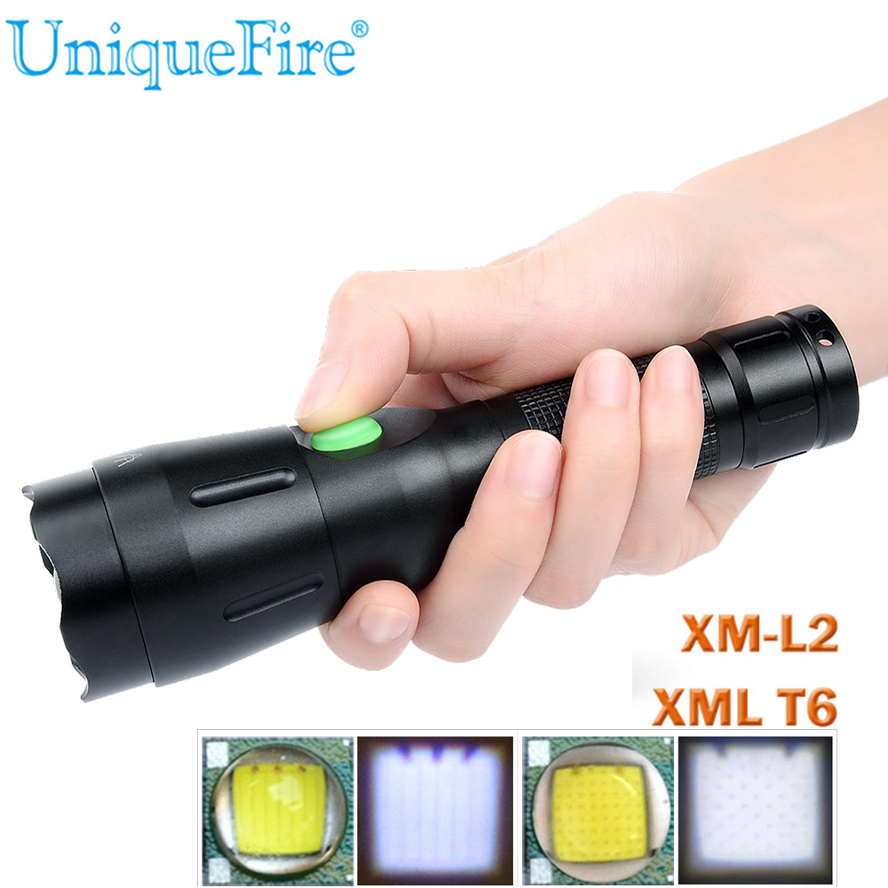 Powerful LED Flashlight 1603-38 CREE XM-L2 XML T6 Lantern Rechargeable Torch Zoomable Waterproof 18650 Battery Lamp Hand Light cree xm l2 flashlight 5000lm adjustable zoomable led xm l2 flashlight lamp light torch lantern rechargeable 18650 2chargers z30