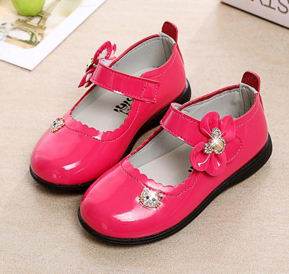 2017 Spring Autumn Children Genuine Leather Shoes Soft Outsole Fashion For Girls & Baby Toddler Princess