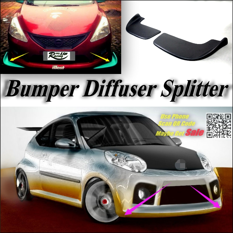 buy car splitter diffuser bumper canard. Black Bedroom Furniture Sets. Home Design Ideas