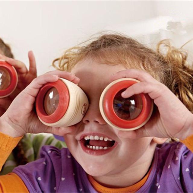 Caleidoscopio de madera Juguetes Para Bebés/niños Juguetes Magia Abeja de Ojos Efecto/bebé Juguetes de La Prisma de Observación del Mundo Externo
