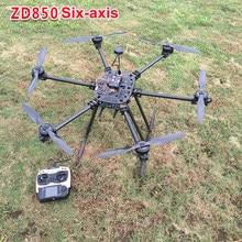 Payung Gaya enam-sumbu Lipat Bingkai UAV RC Drone Kit Daya Kit DZ850 DIY Pesawat Braket Set dengan Murni Serat karbon