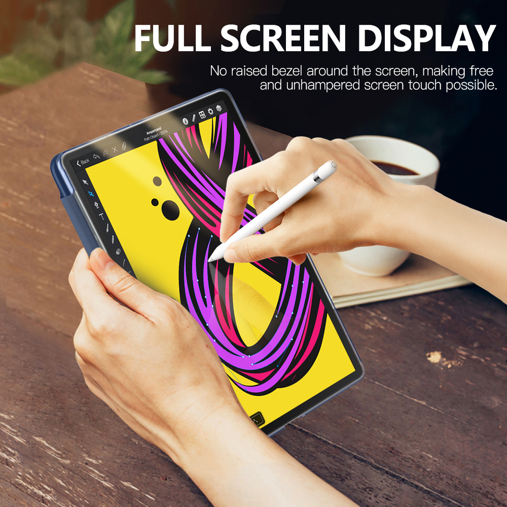 Case For Samsung Galaxy Tab S5e 2019, Ultra Thin Slim Shell Trifold Stand Cover with Frosted Back with Auto Wake & Sleep-3