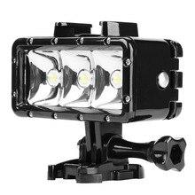 Снимать Водонепроницаемый светодиодный Дайвинг Свет для GoPro Hero 6 5 3 4 H9 SJCAM SJ4000 трубка свет подводный для Камера yi 4 К 4 К