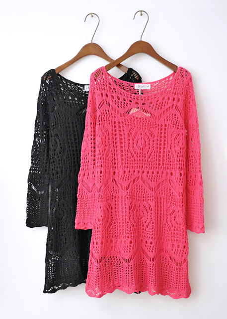 2013 autumn sexy cutout crochet long-sleeve faux two piece knitted one-piece dress t5 . vacuum