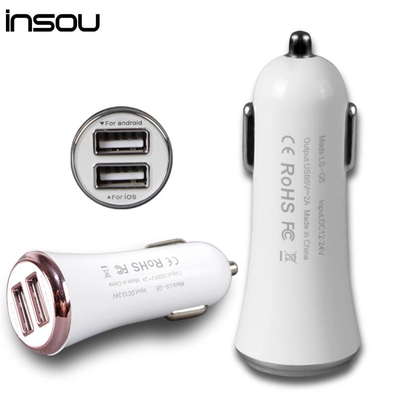INSOU Autoladegerät 5V 2A Micro Auto Dual USB Autoladegerät Mini - Handy-Zubehör und Ersatzteile - Foto 1